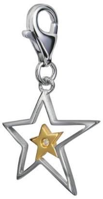 Hot Diamonds Diamond Charm, Sterling Silver, Round Brilliant Cut, 0.01 Carat Diamond Weight, Model DT023