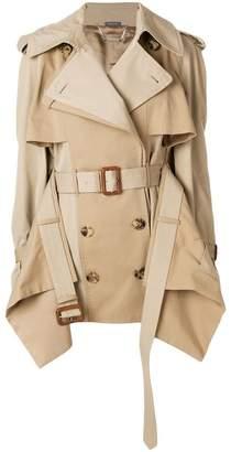 Alexander McQueen layered trench coat