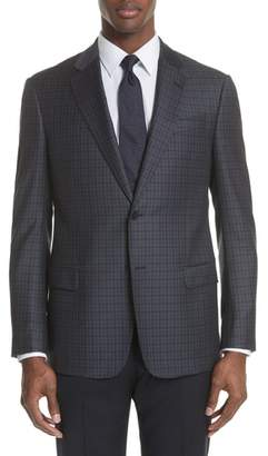 Emporio Armani G Line Trim Fit Check Wool Sport Coat