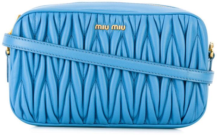 Miu MiuMiu Miu embossed rectangular crossbody bag
