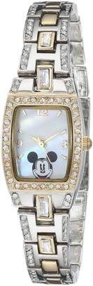 Disney Women's Mickey Mouse Mother-of-Pearl Dial Tone Watch MK2043
