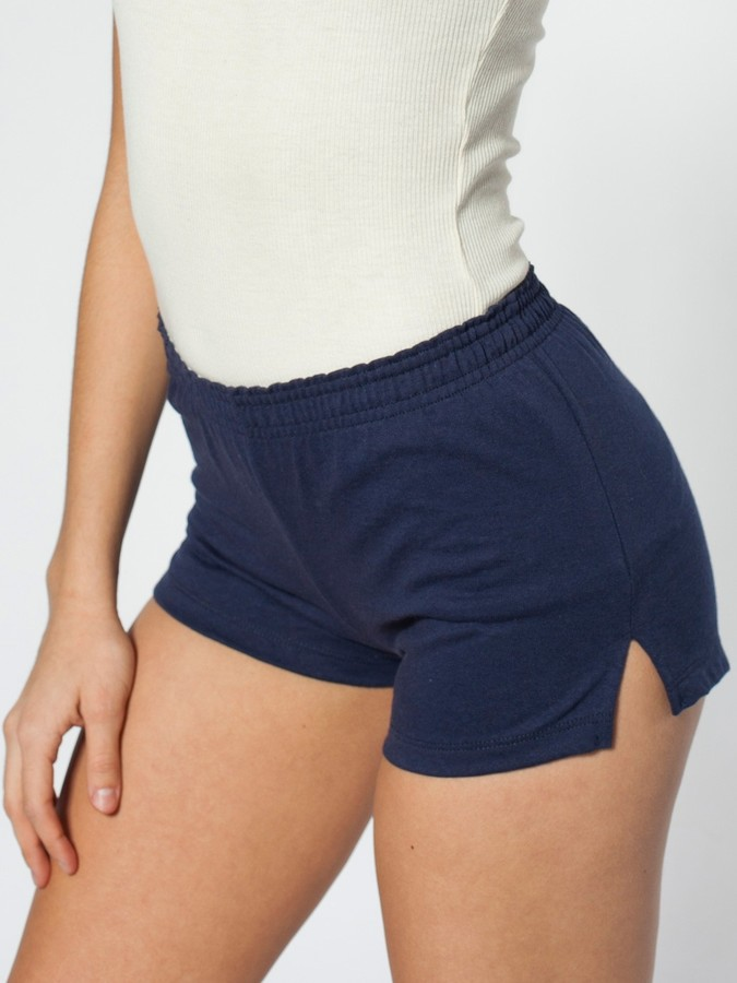 American Apparel Unisex Thick-Knit Jersey P.E. Shorts