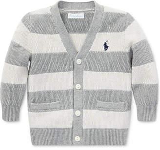 Polo Ralph Lauren Baby Boys Striped V-Neck Cotton Cardigan