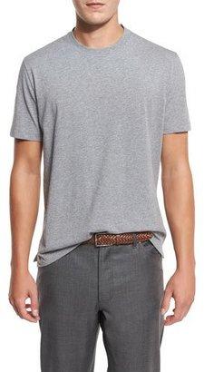 Brunello Cucinelli Cotton Crewneck T-Shirt, Gray $295 thestylecure.com