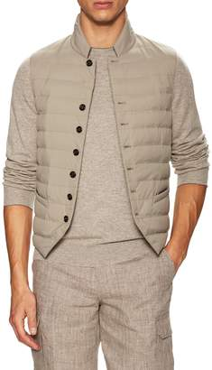 Brunello Cucinelli Men's Quilted Mandarin Collar Vest