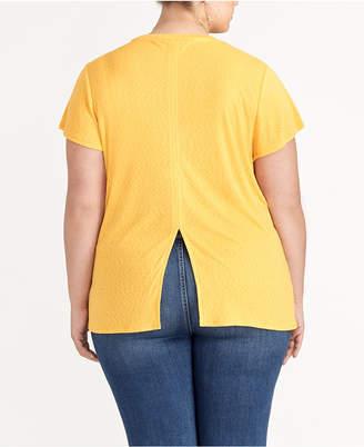Rachel Roy trendy Plus Size Back-Slit Top
