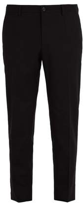 Dolce & Gabbana Tailored Wool Blend Trousers - Mens - Black