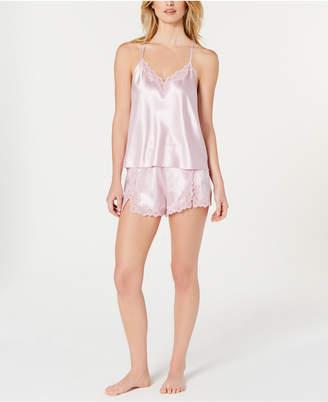 INC International Concepts I.n.c. Lace-Trimmed Cami & Shorts Pajama Set
