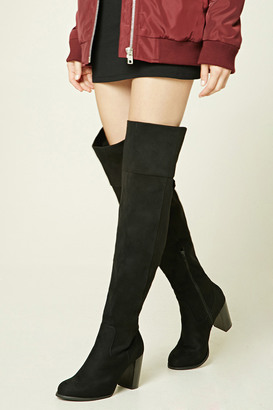 FOREVER 21+ Over-the-Knee Faux Suede Boots $44.90 thestylecure.com