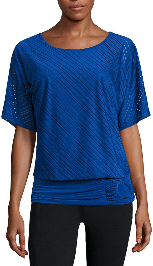 Alyx Short-Sleeve Knit Stripe Dolman Top