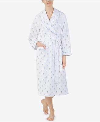 Eileen West Printed Matelasse Wrap Robe