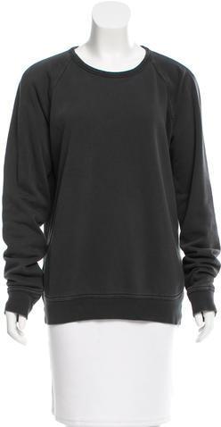 Alexander WangT by Alexander Wang Long Sleeve Crew Neck Sweater