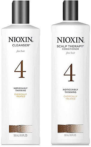 Nioxin System 4 Cleanser & Scalp Therapy (Two Items), 16.9-oz, from Purebeauty Salon & Spa