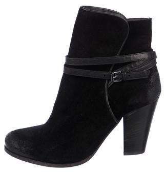 AllSaints Suede Round-Toe Ankle Boots