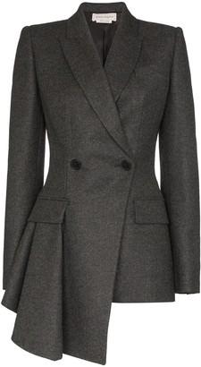 Alexander McQueen asymmetric tailored jacket