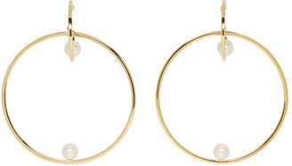 Chloé Gold Darcey Pearl Hoop Earrings