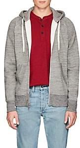 Rag & Bone Men's Racer Cotton-Blend Fleece Hoodie - Charcoal