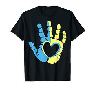 Down Syndrome Awareness Hand T-Shirt Tshirt