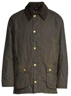 Barbour Men's Ashby Waxed Jacket - Olive - Size L