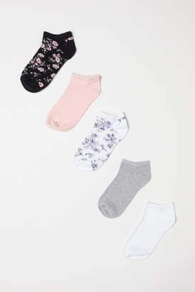 H&M 5-pack Ankle Socks - White