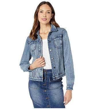 FDJ French Dressing Jeans Embossed Floral Reversible Denim Jacket