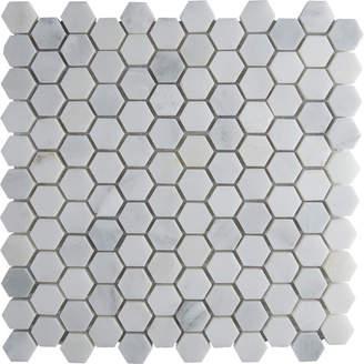 """MSI Arabescato Carrara 12"""" x 12"""" Marble Tile in White"""