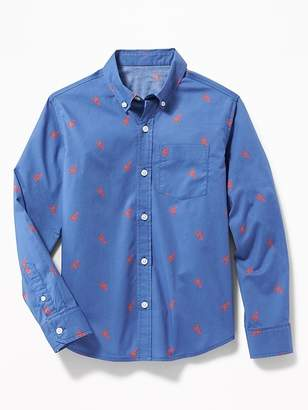 a0dd0dcf Old Navy Built-In Flex Classic Lobster-Print Shirt for Boys