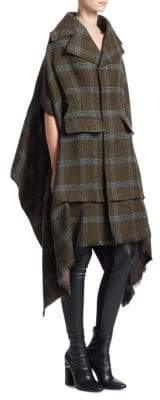 Junya Watanabe Tweed Check Elongated Wool Coat