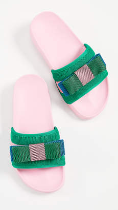 SUECOMMA BONNIE Colorblock Ribbon Sandals
