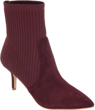 Marc Fisher Suede and Knit Ankle Boots - Albinia