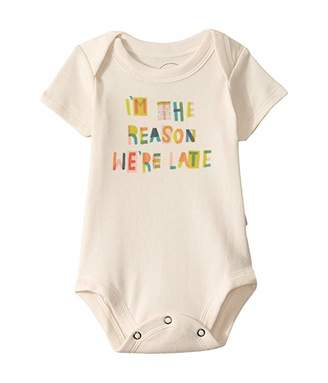 Finn + emma We Are Late Graphic Bodysuit (Infant)