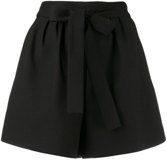 Valentino high waisted belted shorts
