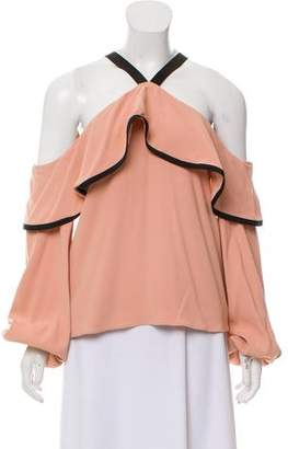 Alexis Cold-Shoulder Draped Top