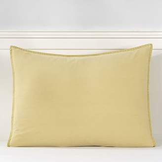 Pottery Barn Teen Vintage Washed Organic Cotton Sham, Standard, Flax Yellow