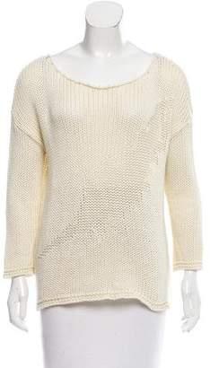 Anine Bing Scoop Neck Rib Knit Sweater