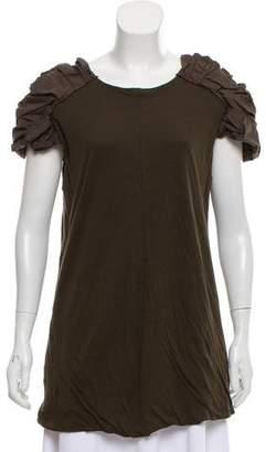 Marni Gathered Short Sleeve Top