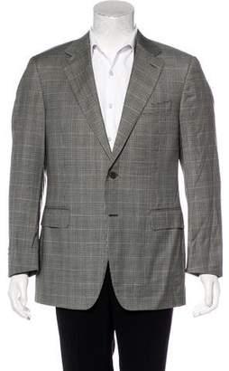 Canali Plaid Wool Blazer