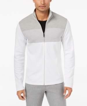 Alfani Men's Colorblocked Full-Zip Sweater Jacket, Created for Macy's