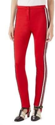 Gucci Tech Jersey Stripe Crystal Pants