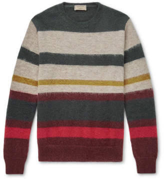 MAISON KITSUNÉ Striped Wool-Blend Sweater