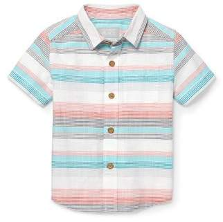 Children's Place The  Toddler Boy Washed Stripe Woven Shirt