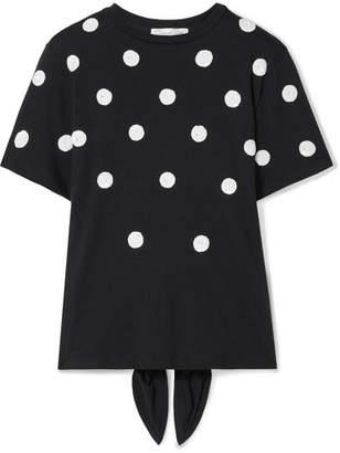 7e2ab862a96b8c Oscar de la Renta Sequin-embellished Modal And Cotton-blend T-shirt -