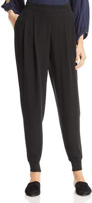 Eileen Fisher Silk Pleated Jogger Pants