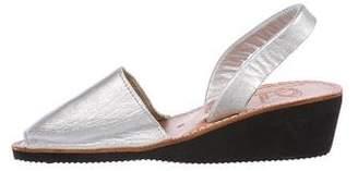 Zero Maria Cornejo Metallic Slingback Sandals