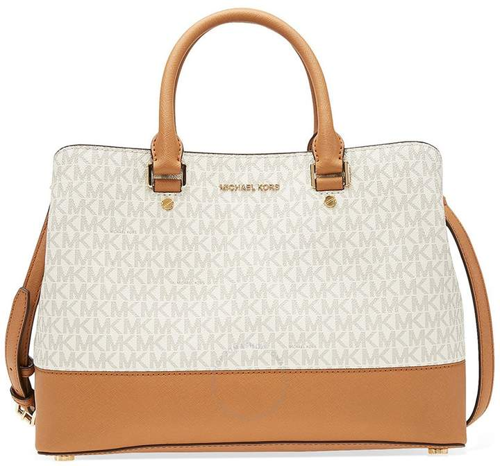 Michael Kors large Savannah Satchel- Vanilla - ONE COLOR - STYLE