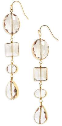 Panacea Crystal Linear Earrings