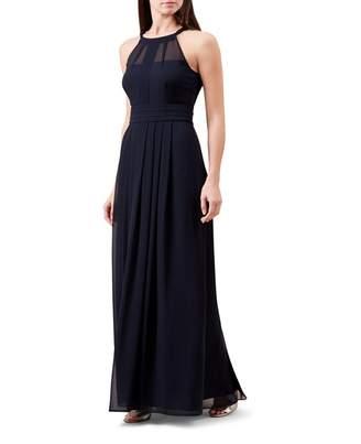 Hobbs Blue Chiffon Halter Neck 'Alexis' Full Length Bridesmaid Dress
