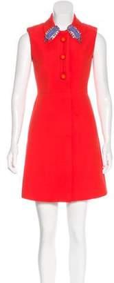 Prada Embellished Mini Dress