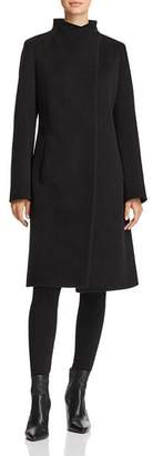 Cinzia Rocca Wool & Cashmere Hidden Snap Coat