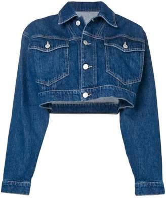 Chiara Ferragni cropped wink denim jacket
